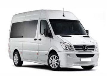 santorini airport shuttle transfer mercedes mini bus